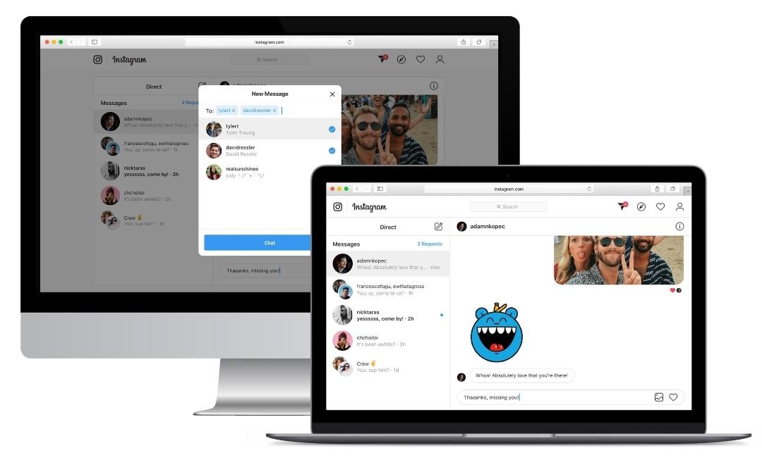 Nuevas funciones en Instagram Web: Enviar y leer mensajes desde el ordenador