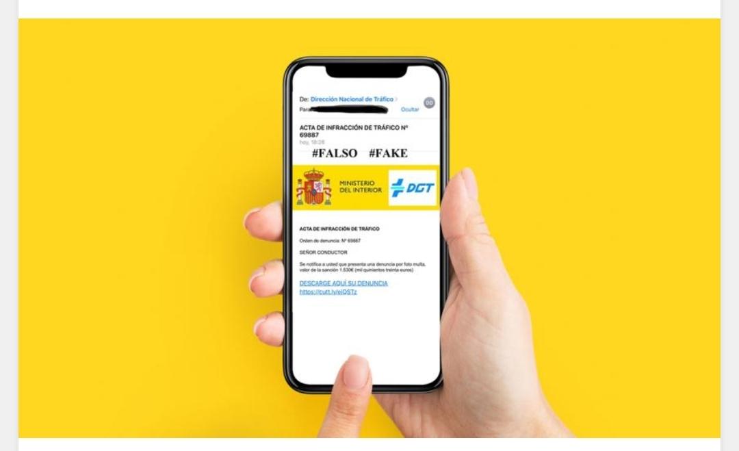 Ojo: no piques en el falso email para pagar una multa de la DGT